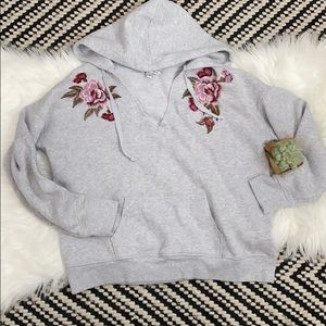 American eagle outfitters floral embroidery hoodie